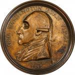 1790 Manly medal. Original dies. Musante GW-10, Baker-61B. Brass. SP-63 (PCGS).