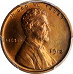 1913 Lincoln Cent. Proof-66+ RB (PCGS). CAC.