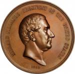1850 Millard Fillmore Indian Peace Medal. Large Size. Bronze. 76 mm. Julian IP-30. Mint State.
