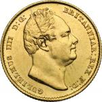 World Coins, Great Britain.  William IV (1830-1837). Sovereign 1833. Fr. 383 完未流通