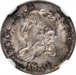 1830 Capped Bust Half Dime. LM-4.2. Rarity-2. MS-65 (NGC). CAC.