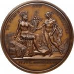 1776 (1876) United States Diplomatic Medal. U.S. Mint Copy Dies. Bronze. 67.9 mm. Julian CM-15. MS-6