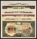 第一版人民币单正反样票三种