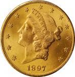 1897 Liberty Head Double Eagle. MS-64 (PCGS).