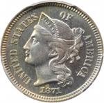 1871 Nickel Three-Cent Piece. Proof-66 (PCGS). CAC.