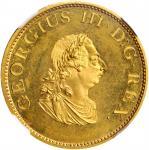 IRELAND. Gilt 1/2 Penny, 1805. Soho (Birmingham) Mint. George III. NGC PROOF-65 Cameo.