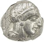 ATHENS 40ATTICA41: 440-404 BC, AR tetradrachm 4017。18g41, S-2526, helmeted bust of Athena right // o