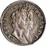 GREAT BRITAIN. 4 Pence, 1689. London Mint. William & Mary. PCGS EF-45 Gold Shield.