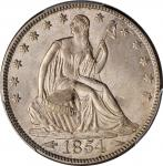 1854 Liberty Seated Half Dollar. Arrows. WB-101. MS-64 (PCGS).