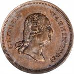 Undated (ca. 1860) George and Martha Washington Medalet. Copper. 20.6 mm. Musante GW-265, Baker-208B