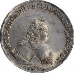 RUSSIA. Ruble, 1743-CNB. St. Petersburg Mint. Elizabeth. NGC MS-62.