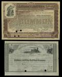 An Album of Railroad Stocks, Including Several 1870s. The selection includes several Baltimore and O
