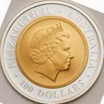 オーストラリア (Australia) ソブリン鋳造100年記念 100ドル金・銀2色貨 1999年 KM474 / Centenary Sovereign 100 Dollars Bi-Metall