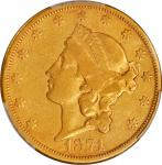 1874-CC Liberty Head Double Eagle. VF Details--Altered Surfaces (PCGS).