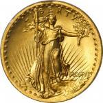 MCMVII (1907) Saint-Gaudens Double Eagle. High Relief. Wire Rim. MS-65 (PCGS).