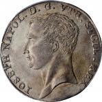 ITALY. Naples. 120 Grana, 1808. Naples Mint. Joseph Napoleon. PCGS AU-55 Gold Shield.