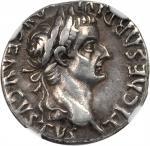 TIBERIUS, A.D. 14-37. AR Denarius (3.80 gms), Lugdunum Mint, A.D. 14-37.