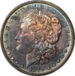 1878 Morgan Silver Dollar. 7 Tailfeathers. Reverse of 1878. Proof-63 (PCGS).