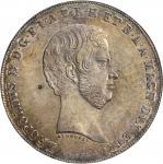 ITALY. Tuscany. Quattro (4 Fiorini), 1856. Leopold II. NGC MS-65.