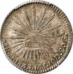 MEXICO. Real, 1833/2-Mo MJ. Mexico City Mint. PCGS MS-65+ Gold Shield.
