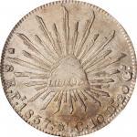 MEXICO. 8 Reales, 1857-Pi MC. San Luis Potosi Mint. NGC AU-58.