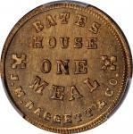 Illinois--Dunleith. 1864 J.M. Daggett & Co. Fuld-220A-2d. Copper-Nickel. Reeded Edge. 19 mm. MS-65 (