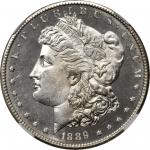 1889-S Morgan Silver Dollar. MS-66 DPL (NGC).