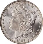 1881 Morgan Silver Dollar. MS-65 (PCGS). CAC.