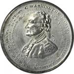 1834 Washington American Eagle Medal. White Metal. 50 mm. By John H. Henning. Baker-55. Plain Edge.