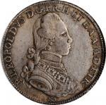 ITALY. Tuscany. Francescone (10 Paoli), 1782. Florence Mint. Leopold II. PCGS MS-62+ Gold Shield.