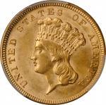 1854 Three-Dollar Gold Piece. AU Details--Scratch (PCGS).