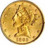 1893-CC Liberty Head Half Eagle. MS-61 (PCGS). CAC.