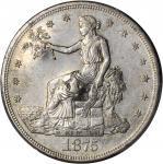 1875-S/CC Trade Dollar. Type I/I. FS-501--Chopmark--AU-55 (PCGS).