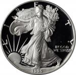 1995-W Silver Eagle. Proof-67 Deep Cameo (PCGS).