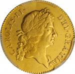 GREAT BRITAIN. Guinea, 1667. London Mint. Charles II. PCGS Genuine--Cleaned, EF Details Gold Shield.