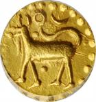 1800-50年泰国北大年吉兰丹1古邦金币。THAILAND. Patani-Kelantan. Kupang, ND (1800-50). PCGS MS-63 Gold Shield.