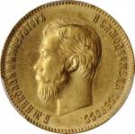 RUSSIA. 10 Rubles, 1904-AP. St. Petersburg Mint. Nicholas II. PCGS MS-63 Gold Shield.