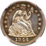 1844 Liberty Seated Dime. NGC MS64