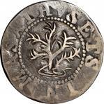 1652 Oak Tree Sixpence Copy. Noe-19, Salmon-unlisted, W-390. EF Details — Damage (PCGS). <p>