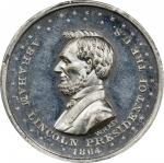 Circa 1864 Washington and Flags / Abraham Lincoln medal by William H. Key. Musante GW-723, Baker-238