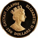 CAYMAN ISLANDS. 250 Dollars, 1988. London Mint. NGC PROOF-68 Ultra Cameo.