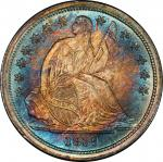 1839 Liberty Seated Dime. No Drapery. Fortin-102. Rarity-3. Repunched Date. MS-68 (PCGS). CAC.