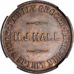 NEW ZEALAND. Christchurch/Launceston, Tasmania. Henry J. Hall/E.F. Dease. 1/2 Penny Token Mule, ND (