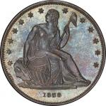1838 Gobrecht Silver Dollar. Judd-84. Die Alignment III, Coin Turn. Proof-64+ (PCGS).