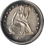 1865-S Liberty Seated Quarter. Briggs 1-A, the only known dies. AU Details--Filed Rims (PCGS).