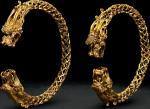 金质累丝双龙手镯一对
