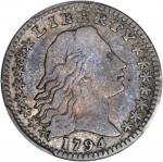 1794 Flowing Hair Half Dime. LM-2. Rarity-5. Fine-12 (PCGS).