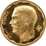 GERMANY. Fantasy Gold 100 Reichsmarks, 1933.CHOICE BRILLIANT UNCIRCULATED.