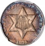 1873 Silver Three-Cent Piece. Proof-64 (PCGS). CAC.