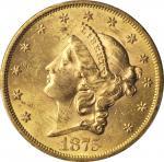 1875-S Liberty Head Double Eagle. MS-62+ (PCGS). CAC.